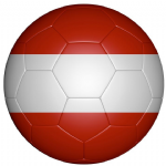 Austria Football Flag 25mm Flat Back
